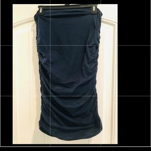 Blue Ruched pencil skirt or sleeveless mini dress